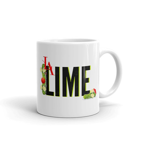 L.A. LIME WHITE COFFEE MUG