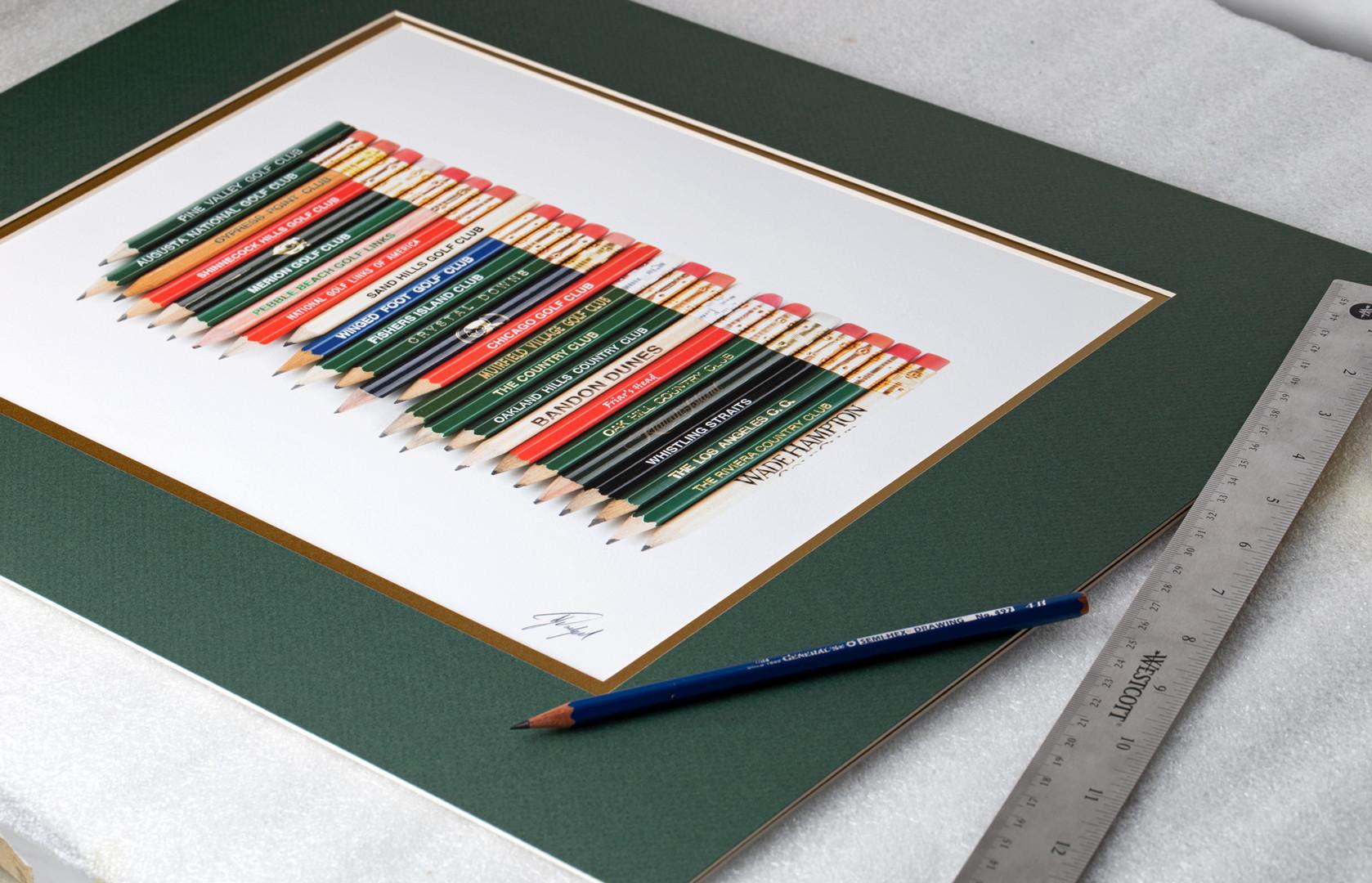 top-25-golf-pencils-art-framed-golf-gift