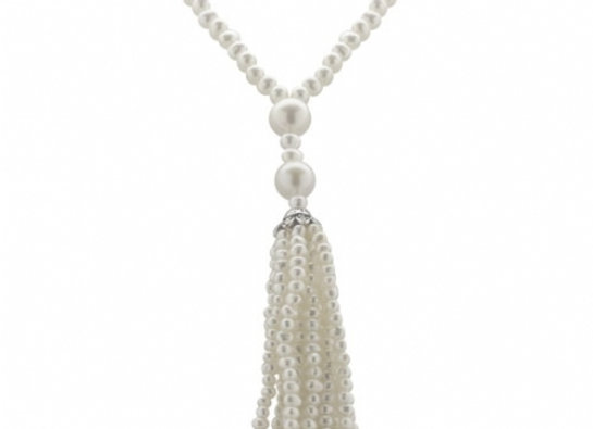"Dramatic FWP 36"" Tassel Drop Necklace"