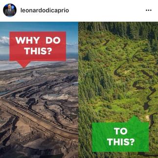 Regram from Leonardo Dicaprio promoting an event