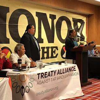 Treaty Signing Against Keystone XL