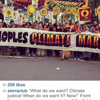 Live instagram of People's Climate event