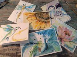 Original, hand painted watercolors