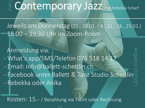 NEW NEW NEW                                        Open Class - Contemporary Jazz - 3 more times!!!