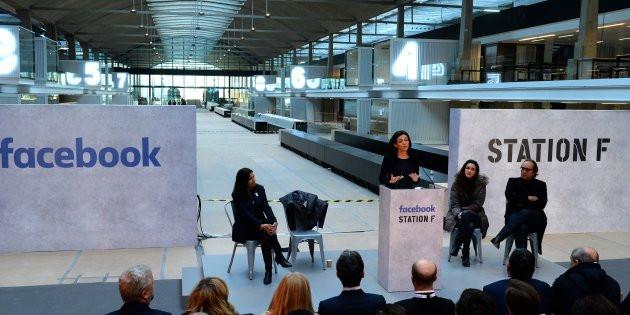 Station F, Facebook, Sheryl Sandberg, Xavier Niel