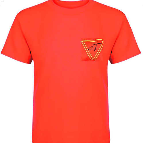 Signature Red T-Shirt (Yellow Logo)