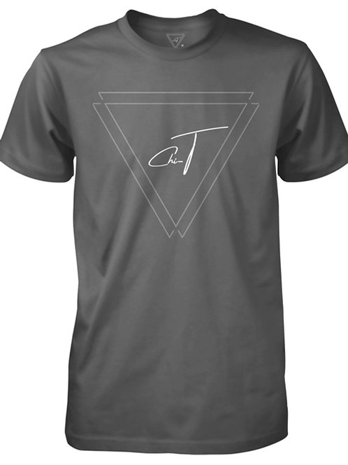 Signature Grey T-Shirt (Silver Logo Front)