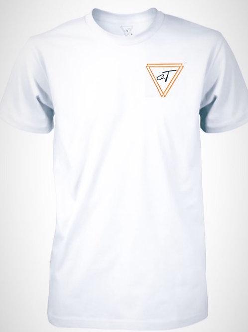 Signature White T-Shirt (Neon Orange Logo)
