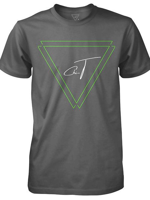 Signature Grey T-Shirt (Neon Green Logo Front)