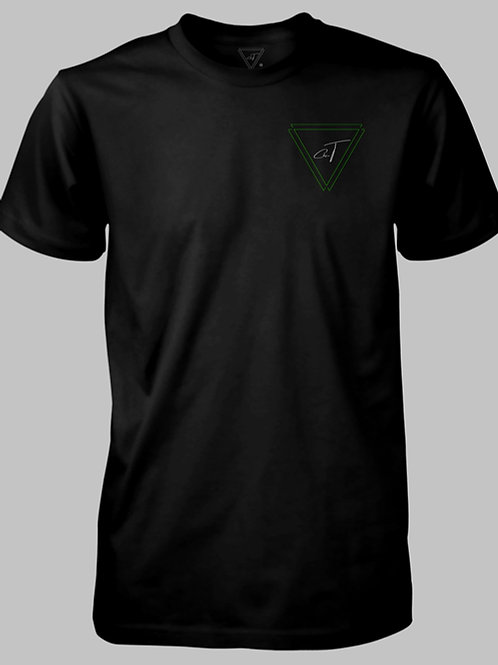 Signature Black T-shirt (Neon Green Logo)