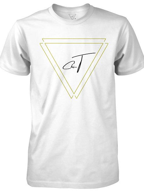 Signature White T-Shirt (Gold Logo Front)