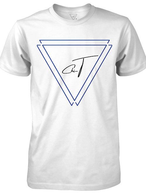 Signature White T-Shirt (Royal Blue Logo Front)