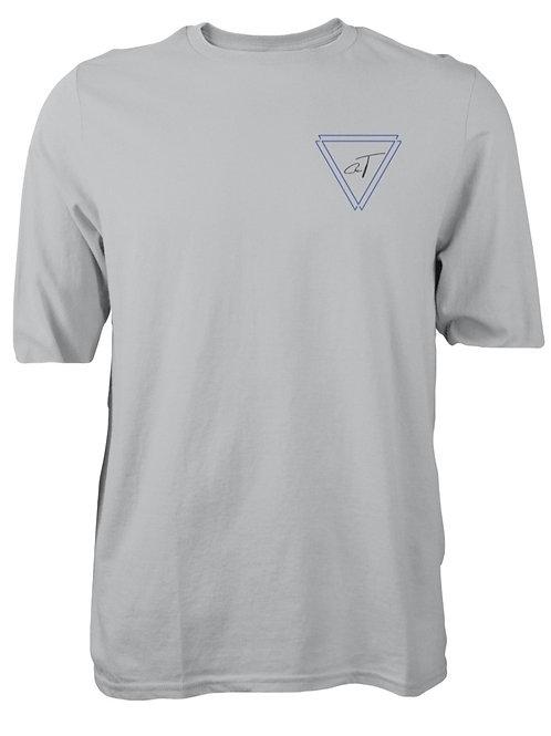 Signature Grey T-Shirt (Royal Blue Logo)