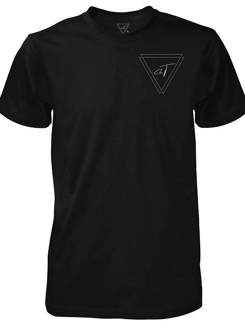 Signature Black T-shirt (Silver Logo)