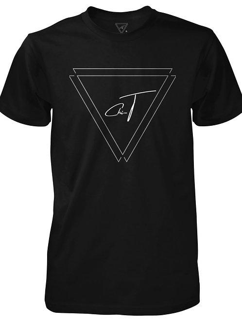 Signature Black T-Shirt (Silver Logo Front)
