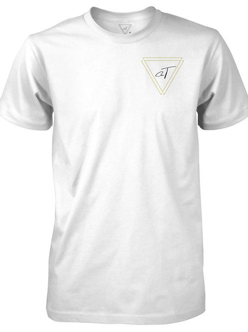 Signature White T-Shirt (Gold Logo)