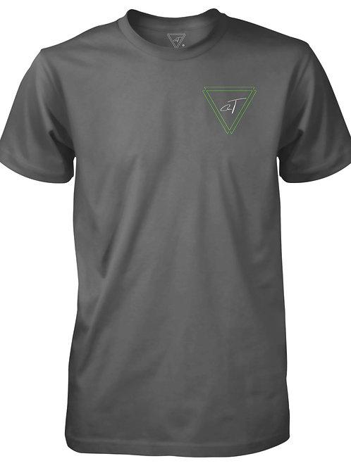 Signature Grey T-Shirt (Neon Green Logo)