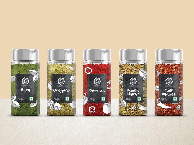 Spices in sprinkler jars