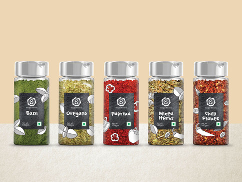 Spices in sprinkler jars