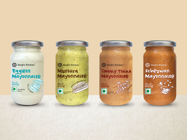 Mayonnaise in a variety of flavours