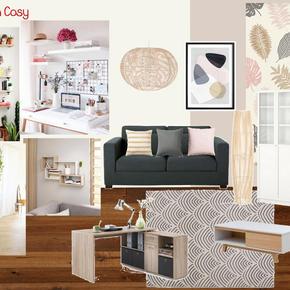 Salon graphique et cosy