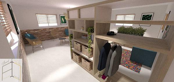Vue du meuble sur-mesure créé par Amand'in Déco