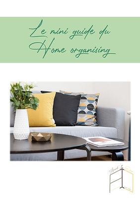 Mini guide home organising