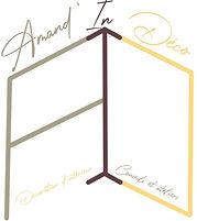 Voici le logo de mon entreprise de décoration d'intérieur, Amand'in Déco, près de Colmar dans le Haut-Rhin.