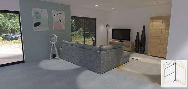 Modélisation 3D salon, Amandine Vonarx Amand'in Déco, décoratrice d'intérieur UFDI près de Colmar