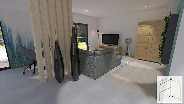 Modélisation 3D salon, décoratrice d'intérieur UFDI Amandine Vonarx Amand'in Déco près de Colmar en Alsace