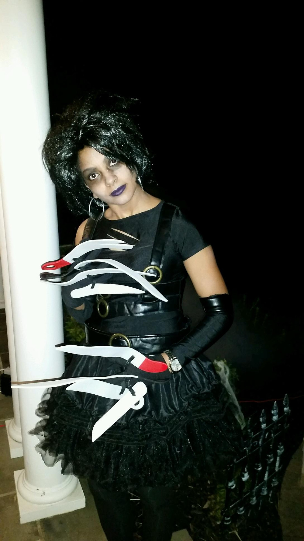 Halloween 2016; Lady V as Edward(ina) Scissorhands