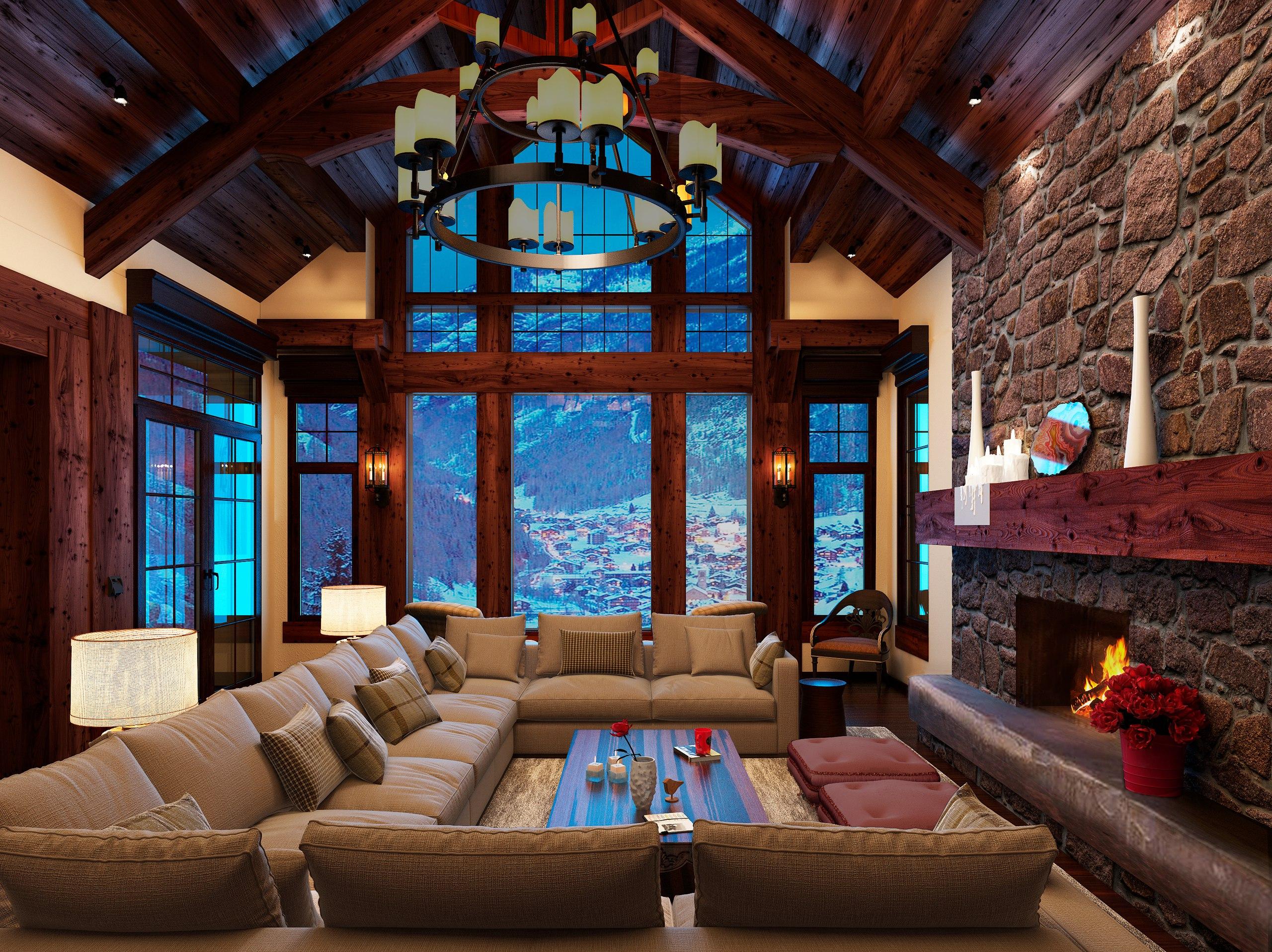 Дом зима