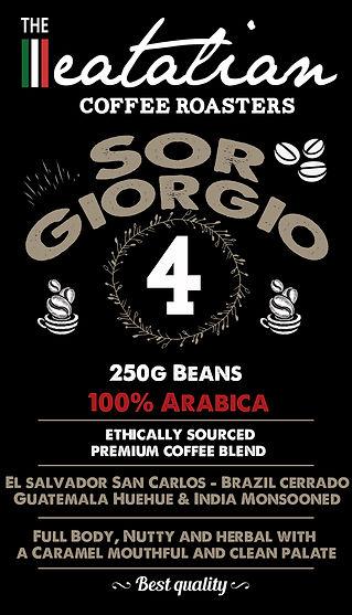 The eatalian Sor Giorgio Coffee Beans La