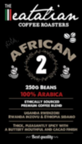 The eatalian African Coffee Beans Label