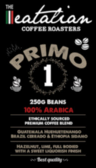 The eatalian Primo Coffee Beans Label Cr