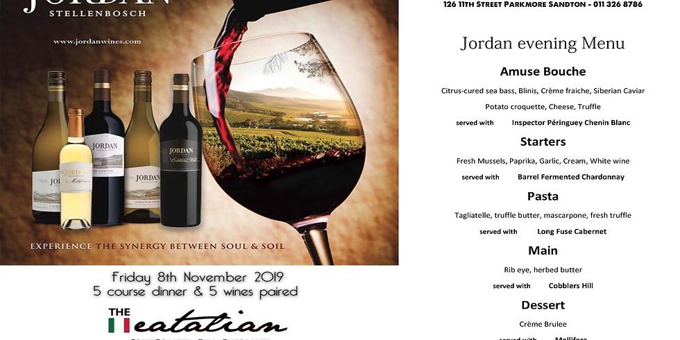 Jordan wines paired dinner