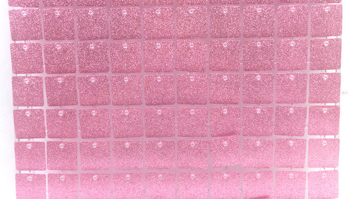 Amazing Pink - Square Sequin - Clear Click Panel