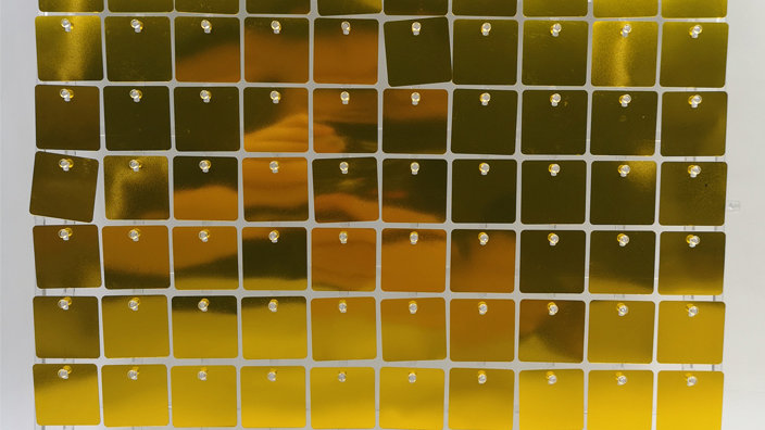 Gold 1 - Square Sequin - Clear Click Panel