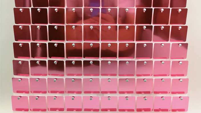 Rose Gold 2 - Square Sequin - Clear Click Panel