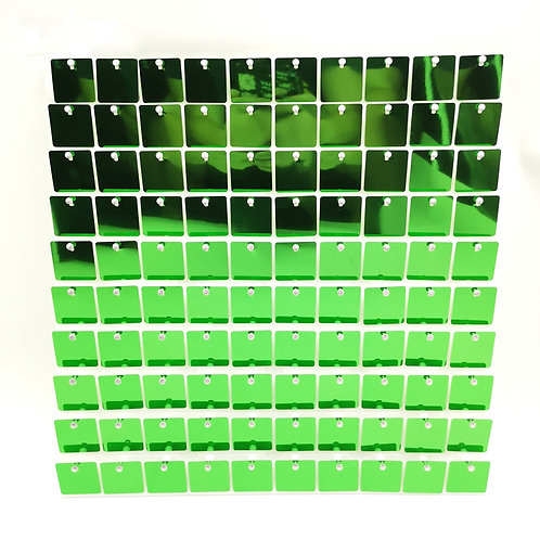 Indoor Green - Square Sequin - Clear Click Panel