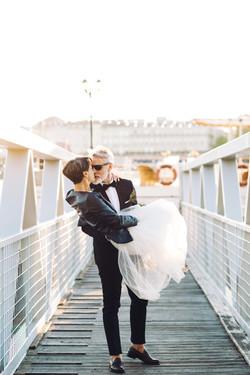 Mariage sur un bateau à Bordeaux