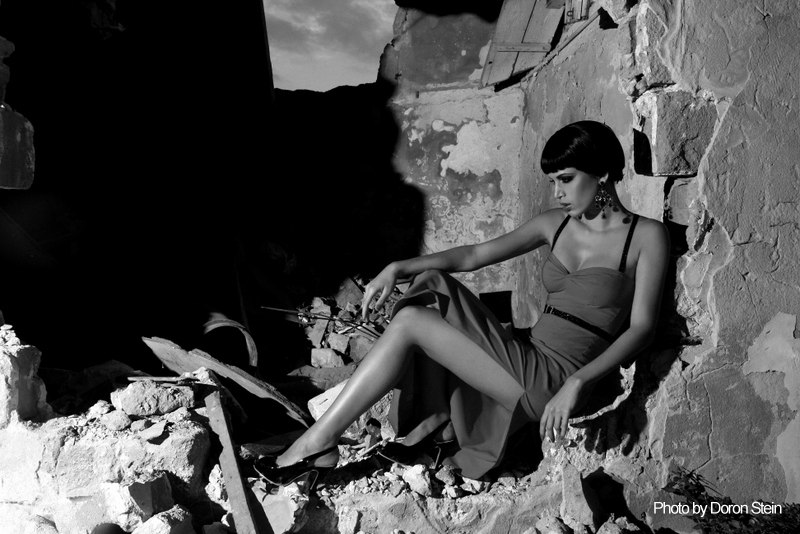 Model in Wreckage