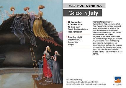 Gelato in July card