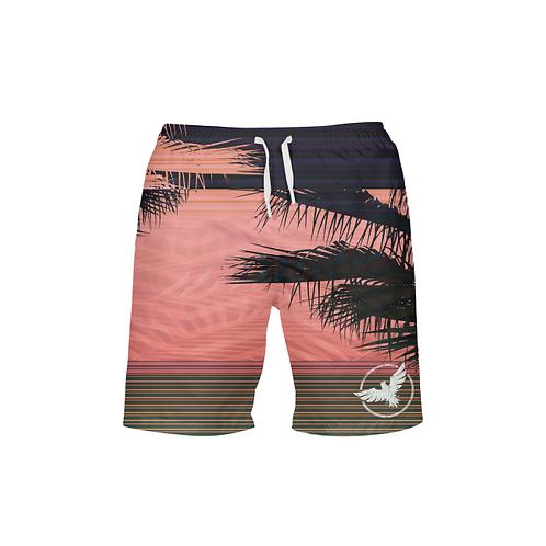 Men's FYC Summer Stripe Beach Shorts UPF 40+ W/Lining
