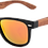 Thumbnail: Real Rose Wood Classic Wanderer Sunglasses by WUDN