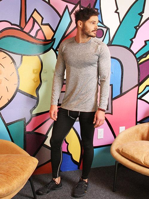 Adrian Men's Long Sleeve Shirt - Grey