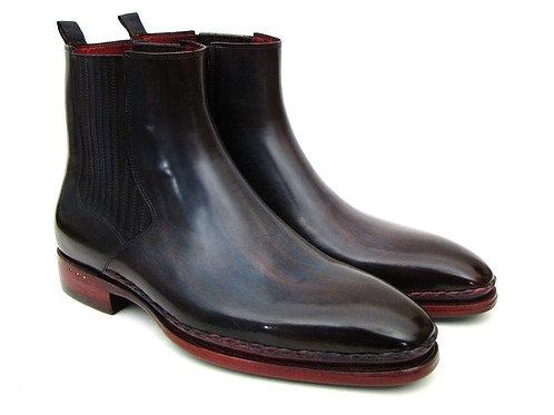Paul Parkman Men's Chelsea Boots Navy & Bordeaux (ID#BT54F11)