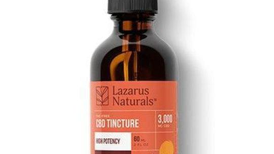 Lazarus Naturals - CBD Tincture - Isolate Blood Orange - 3000mg