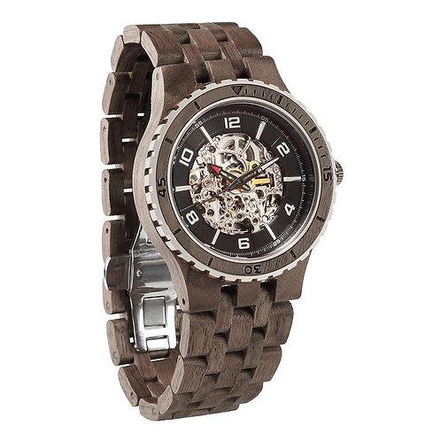 Men's Premium Self-Winding Transparent Body Walnut Wood Watches
