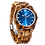 Thumbnail: Men's Personalized Engrave Zebrawood Watches - Custom Engraving